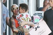 Amber Rose Shops in West Hollywood with Her Son