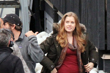 Amy Adams Zack Snyder Amy Adams On The Set Of 'Man Of Steel'