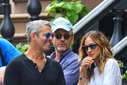 Actress Sarah Jessica Parker helps her daughters Marion and Tabitha sell homemade cookies and fresh lemonade in the West Village, New York City, on April 23, 2016.
