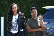 Angela Simmons Has Lunch At Mauro's In West Hollywood
