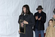 Actress Anjelica Huston receiving a star on The Hollywood Walk Of Fame in Hollywood, CA.