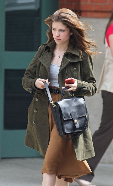 Actress Anna Kendrick leaves the Greenwich Hotel after having a lunch meeting fore the Tribeca Film Festival.