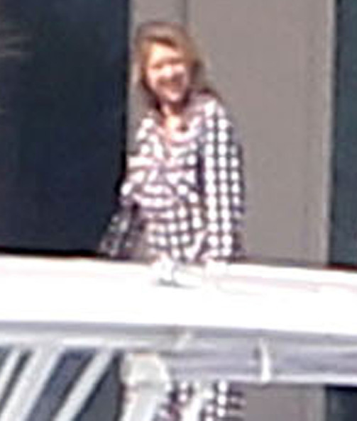 Anna Kournikova Rocking Flannel Pajamas In Miami