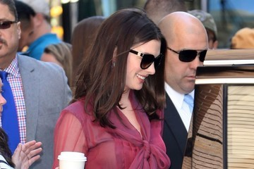 Anne Hathaway Celebrities Appear on 'The View' in NYC