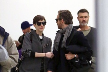 Anne Hathaway Anne Hathaway Arriving On A Flight At LAX