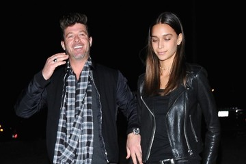 April Love Geary Robin Thicke And April Love Geary Arrive At A Costume Party In LA