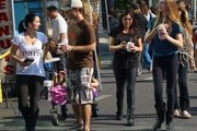 'Modern Family' actress Ariel Winter, her sister Shanelle Workman, and her nieces make their weekly visit to the Farmer's Market with some friends in Studio City, California on November 3, 2013.