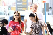 'Modern Family' actress Ariel Winter hangs out with sister Shanelle Workman and her neices at the Farmer's Market it Studio City, California on October 26, 2013. Ariel is seen getting a temporary tattoo of a heart on her collarbone.
