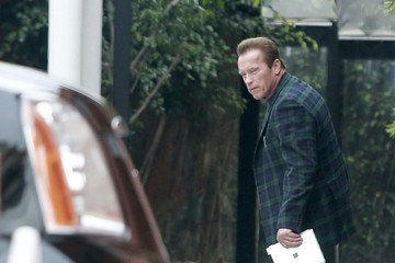 Arnold Schwarzenegger Arnold Schwarzenegger Heads to the Office