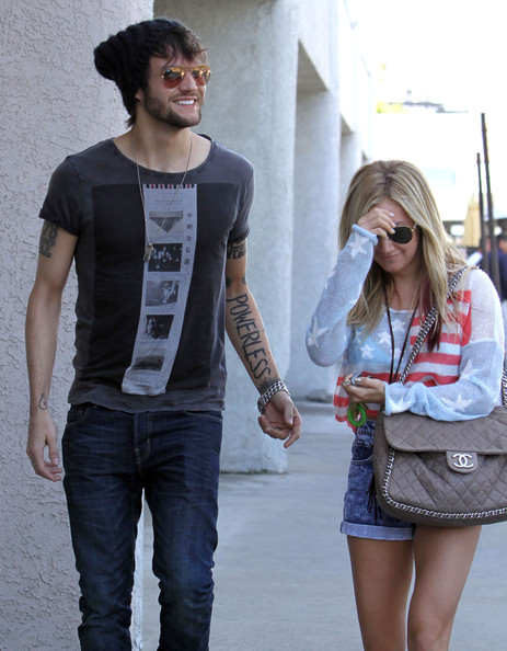 Ashley Tisdale And Martin Johnson Out For Lunch In Studio City