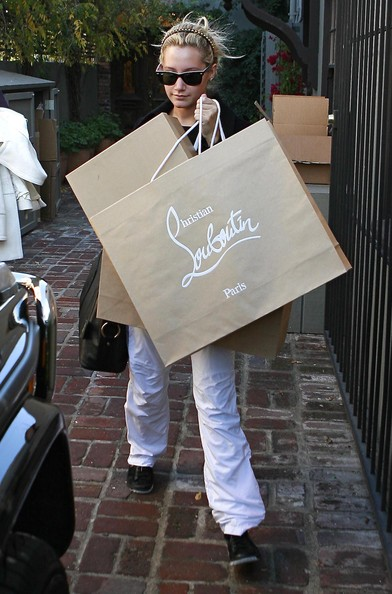 Actress Ashley Tisdale out shopping at Christian Louboutin in Beverly Hills, CA.