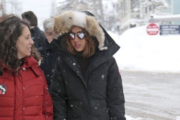 Aubrey Plaza Celebrities Are Seen Out and About at the 2017 Sundance Film Festival