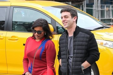 B.J. Novak Mindy Kaling and B.J. Novak Have Lunch in NYC