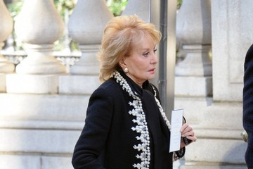 Barbara Walters Funeral Held for Oscar De La Renta