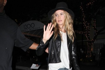 Behati Prinsloo Celebs Enjoy a Night Out in Hollywood