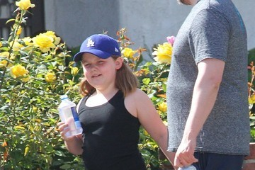 Ben Falcone Ben Falcone Goes Out for a Walk With Daughter Vivian in LA