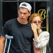 Ben Smith-Peterson Riley Keough & Her Boyfriend Waiting For A Cab In New York