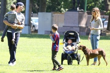 Benjamin Brady Tom Brady & Family Spend Father's Day At The Park
