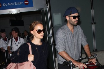 Benjamin Millepied Natalie Portman & Benjamin Millepied Touch Down At LAX