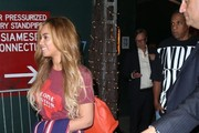 Couple Beyonce Knowles and husband Jay-Z spotted on a night out in New York City, New York on May 19, 2015. Beyonce and Jay-Z have posted bail for protesters arrested in recent police brutality demonstrations.