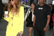 Couple Beyonce Knowles and husband Jay-Z spotted out and about in New York City, New York on May 20, 2015. Beyonce and Jay-Z have posted bail protesters arrested in recent police brutality demonstrations.