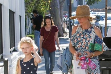 Billie Dane Eric Dane & Rebecca Gayheart Take Their Daughters To Au Fudge