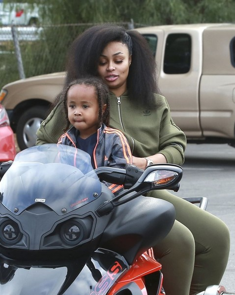 Blac Chyna Takes Her Son to a Bowling Alley in Woodland Hills