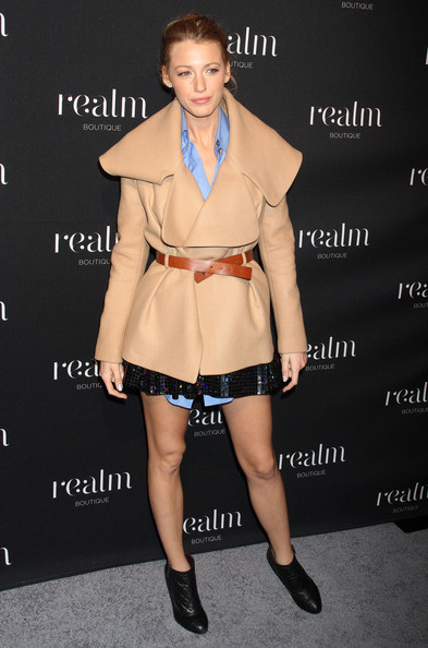 Blake Lively Celebrities attending the Realm Boutique Opening in New York City, NY.