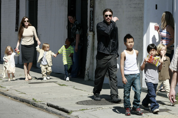 Brad and Angelina Show Off the Kids in NOLA 4