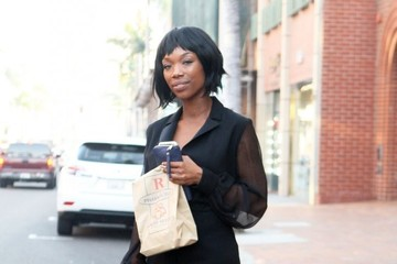Brandy Brandy Norwood Is All Smiles In Beverly Hills