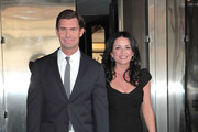 Bravo television reality stars seen leaving their hotel and heading to the Bravo Upfront Party in New York City, New York on April 4, 2012.<br /> <br /> Pictured: Jeff Lewis, Jenni Pulos