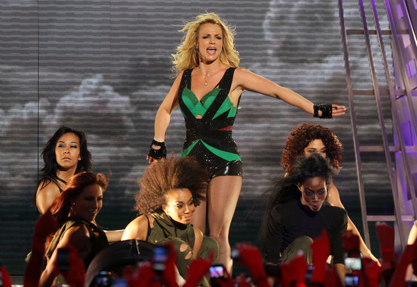 Britney Spears Singer Britney Spears performs on the 'Jimmy Kimmel Live' show in Hollywood.