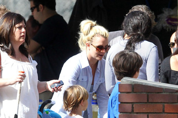 Britney Spears Jason Trawick Britney Spears And Jason Trawick Attend Her Son Sean's Little League Game