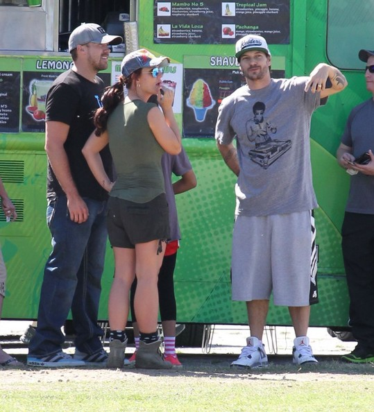 Britney Spears and Kevin Federline at a Soccer Game
