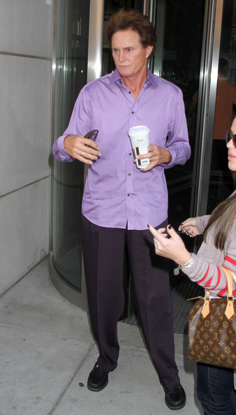 Bruce Jenner Reality star Bruce Jenner grabs a cup of coffee out in New York City.