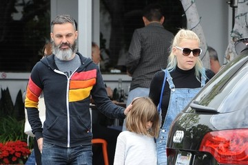 Busy Philipps Marc Silverstein Busy Philipps and Family Leaving Fred Segal