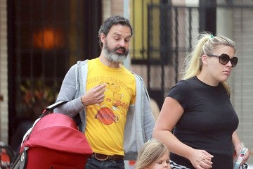 Busy Philipps Marc Silverstein Busy Philipps & Family Lunch At Little Dom's