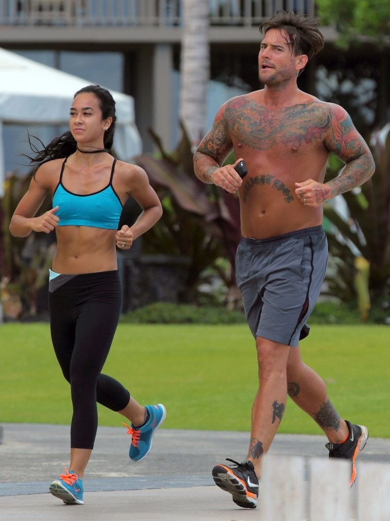 Wwe Aj Lee Sexiest Moments Goes jogging with aj lee