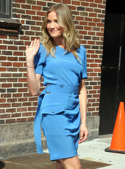 Cameron Diaz and Buck Brannaman at 'Late Show with David Letterman'  in New York City, NY.