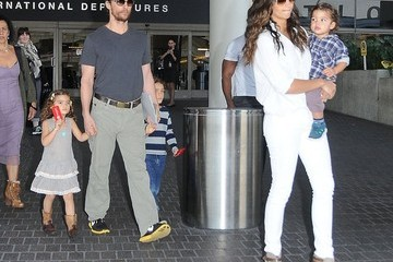Camila Alves Levi Mcconaughey Matthew McConaughey & Family Arriving On A Flight At LAX
