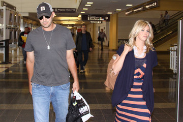 Candice Crawford  Tony Romo And Candice Crawford Arriving In DC