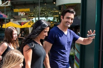 Carole Marini Gilles Marini Hangs With His Family At The Grove