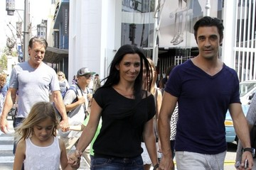 Carole Marini Gilles Marini Takes Family to The Grove