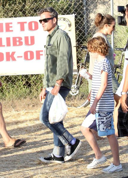 Balthazar Getty And Son At The Malibu Fair