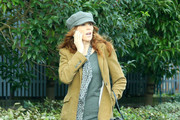 """British actress Catherine Tate looks quite fashionable while taking a leisurely stroll around West London, UK. on January 11, 2012. Fans of """"The Office"""" will remember her as a wacky, potential replacement for Michael Scott in season eight."""
