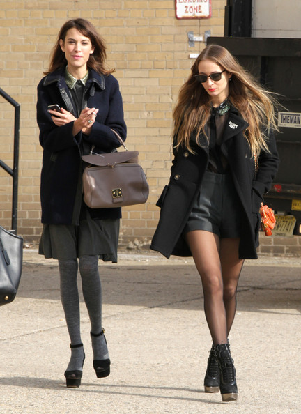 Celebrities arrive at the Jason Wu Show during New York Fashion Week ...