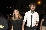 "Celebrities leave the Pantages Theater after watching the first Los Angeles performance of ""The Book of Mormon"" in Hollywood, California.<br /> Pictured: Alicia Silverstone, Christopher Jarecki"