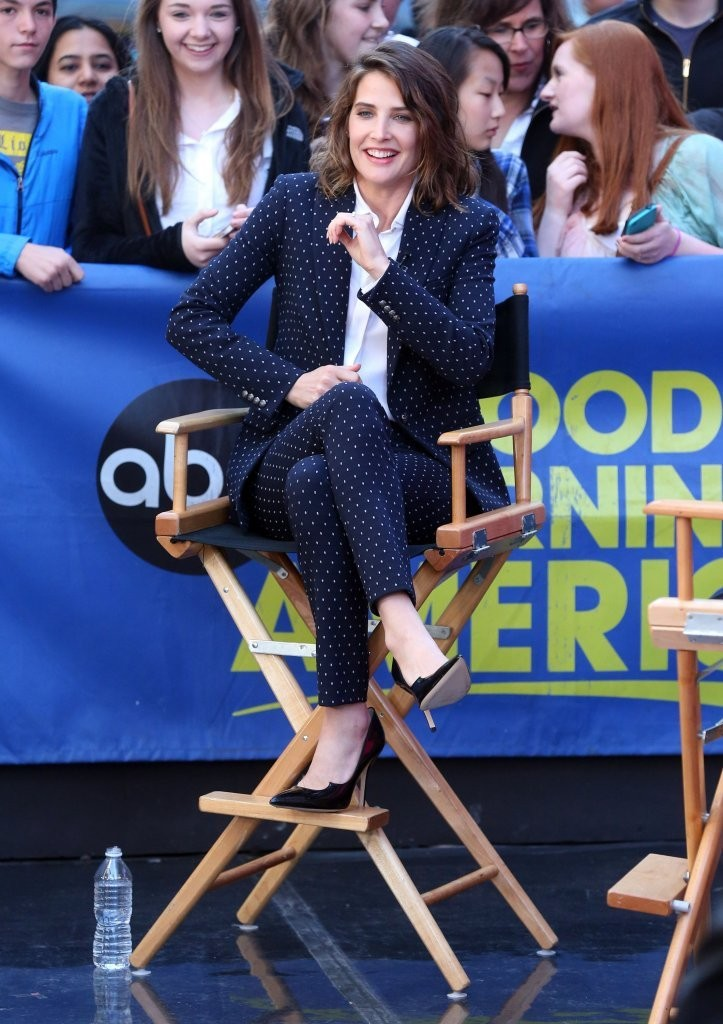 Good Morning America How Are You Chords : Cobie smulders photos celebrities visit good