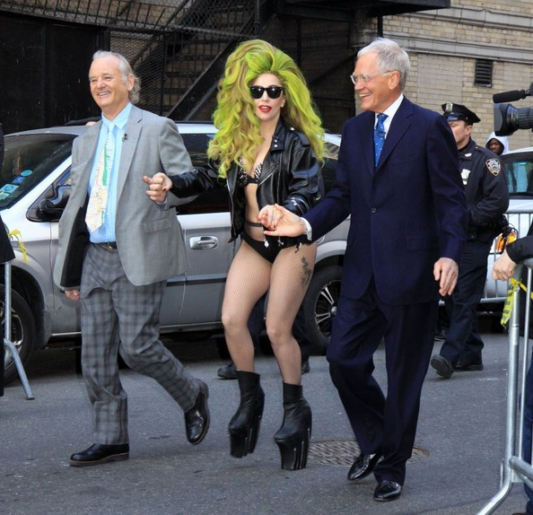 Celebrities making an appearance on the 'Late Show With David Letterman' in New York City, New York on April 2, 2014.