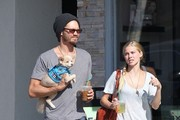 'Caveman' actor Chad Michael Murray and his fiance Kenzie Dalton take their dog to a canine playroom in Studio City, California on August 1, 2013.